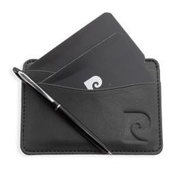 Porta carte e mini penna Pierre Cardin