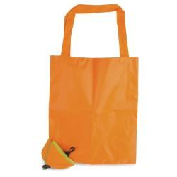 Borsa shopper pieghevole arancia