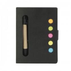 Porta blocco e penna in cartone riciclato con post-it