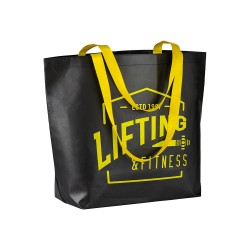 Shopper nera in TNT laminato