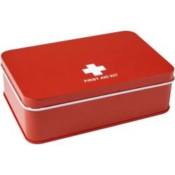 Kit di primo soccorso da 15 pezzi, scatola alluminio